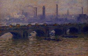 Claude Monet - Waterloo Bridge, Grey Weather