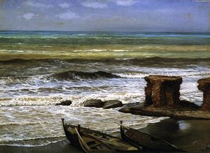 Elihu Vedder - Waves at Palo