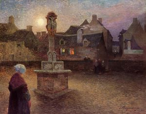 Ferdinand Du Puigaudeau - The Wayside Cross at Rochefort-en-Terre (also known as Evening Service)