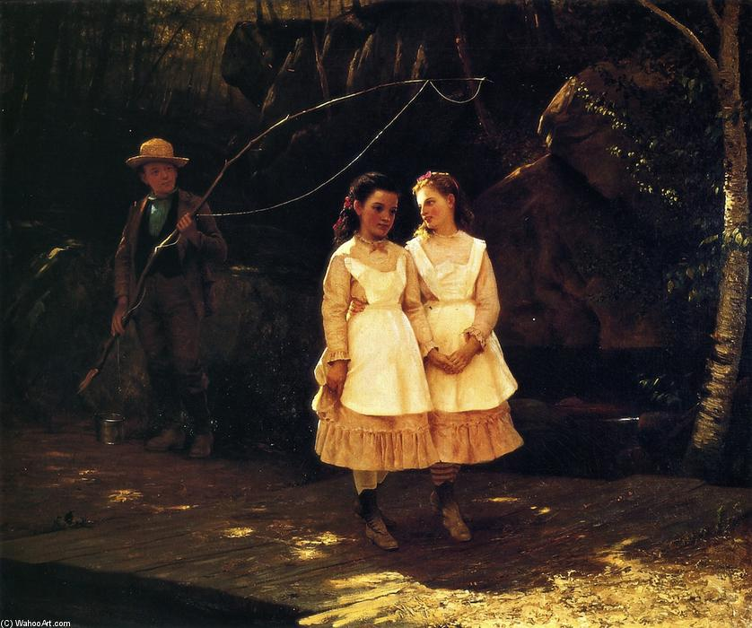 We Can't Be Caught, Oil On Canvas by John George Brown (1831-1913, United Kingdom)