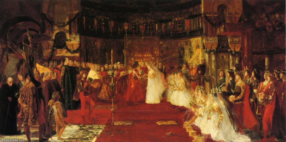 Order Famous Paintings Reproductions : Wedding in a side Chapel of San Marco by José Villegas Cordero (1844-1921, Spain) | WahooArt.com