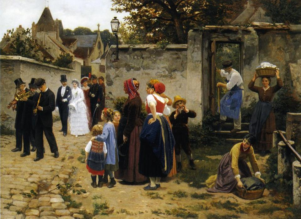 The Wedding Procession by Guillaume Seignac (1870-1924, France)