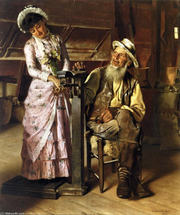 Weighed at the Mill, Oil On Canvas by John George Brown (1831-1913, United Kingdom)