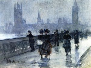 Frederick Childe Hassam - Westminster Bridge