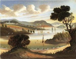 Thomas Chambers - West Point on the Hudson River