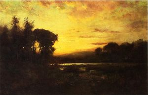 William Keith - Wetlands at Sunset