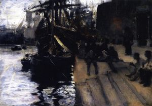 John Singer Sargent - Wharf Scene (also known as The Dock)