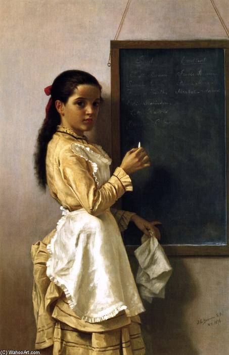 What's Your Namr?, Oil On Canvas by John George Brown (1831-1913, United Kingdom)