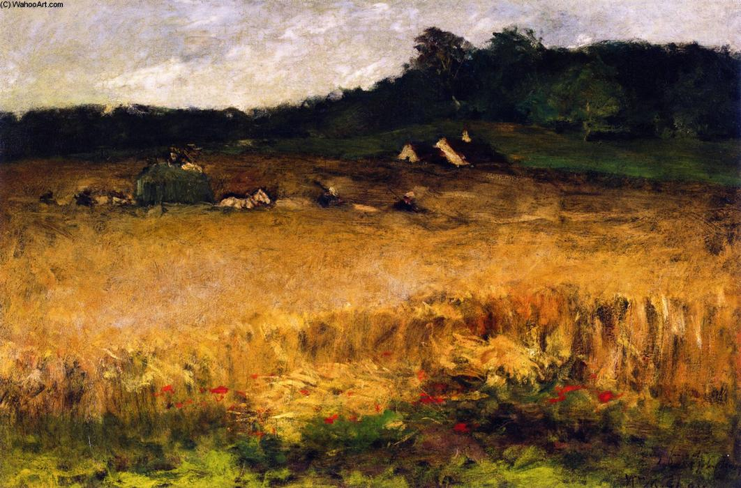 Wheat Field, Oil On Canvas by William Merritt Chase (1849-1916, United States)