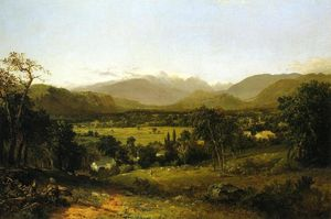 John Frederick Kensett - 'The White Mountains (also known as Mount Washington from the Valley of Conway)'