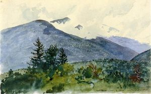 Charles De Wolf Brownell - White Mountains from Fernald-s Hill