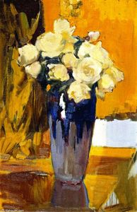 Joaquin Sorolla Y Bastida - White Roses from the Garden of My House