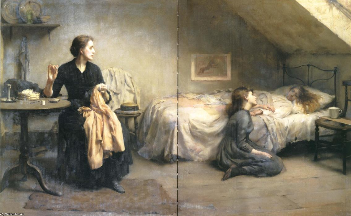 Widowed and fatherless 1888 by thomas benjamin kennington for Chambre de bonne