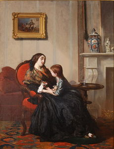 Gustave Leonard De Jonghe - Widow In Mourning