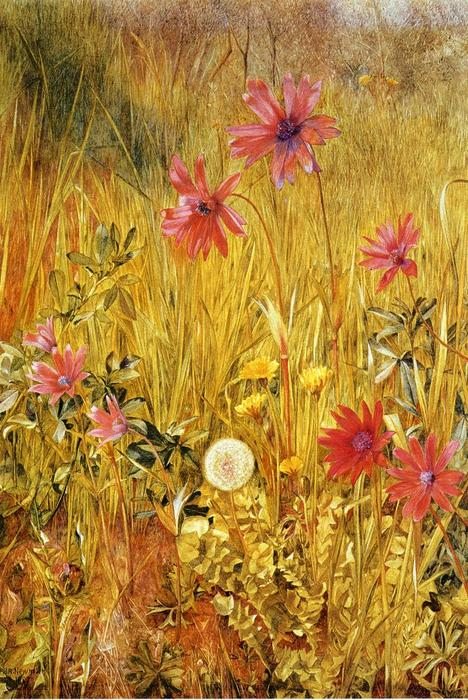 Wildflowers, Watercolour by Henry Roderick Newman (1833-1918, United States)