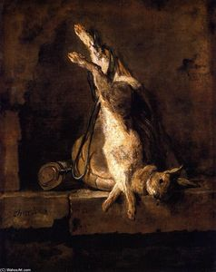 Jean-Baptiste Simeon Chardin - Wild Rabbit with Game Bag and Powder Flask