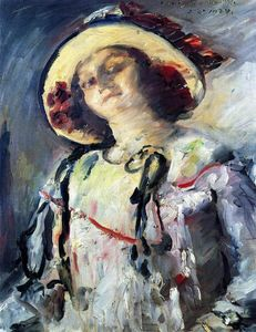 Lovis Corinth (Franz Heinrich Louis) - Wilhelmine in a Yellow Hat
