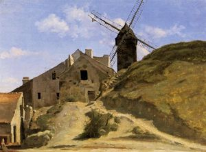 Jean Baptiste Camille Corot - A Windmill in Montmartre