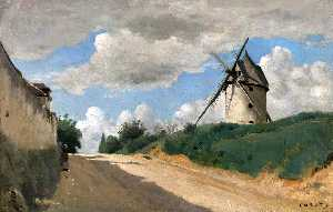 Jean Baptiste Camille Corot - Windmill on the Cote de Picardie, near Versailles