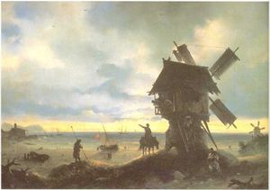 Ivan Aivazovsky - Windmill on the Sea Coast.