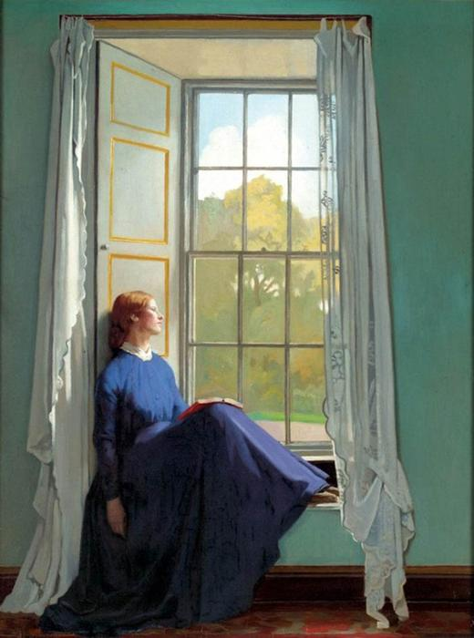 The window seat, 1901 by William Newenham Montague Orpen (1878-1931, Ireland)