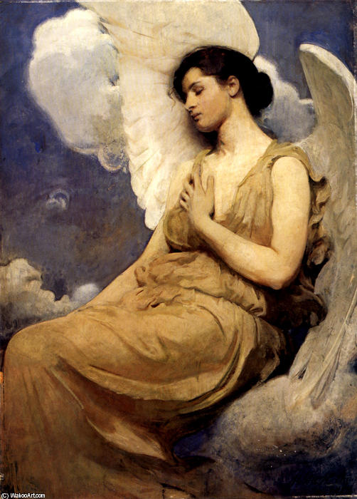 Winged Figure, 1889 by Abbott Handerson Thayer (1849-1921, United States) | Paintings Reproductions Abbott Handerson Thayer | WahooArt.com