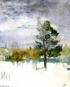 John La Farge - Winter Evening Sky