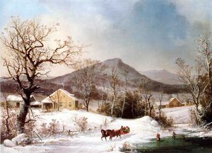 George Henry Durrie - Winter in the Country