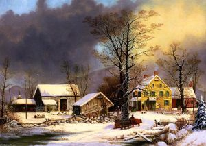 George Henry Durrie - Winter in the Country, A Cold Morning