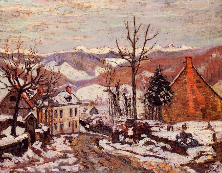 Winter in Saint Sauves (also known as Auvergne), 1900 by Jean Baptiste Armand Guillaumin (1841-1927, France) | Museum Quality Copies Jean Baptiste Armand Guillaumin | WahooArt.com
