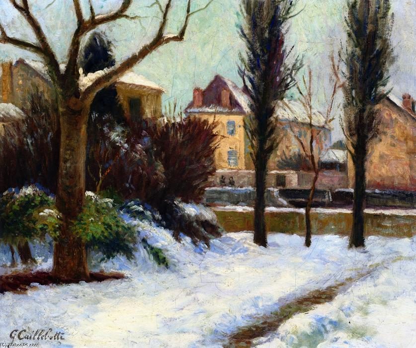 Winter Landscape, Oil On Canvas by Gustave Caillebotte (1848-1894, France)
