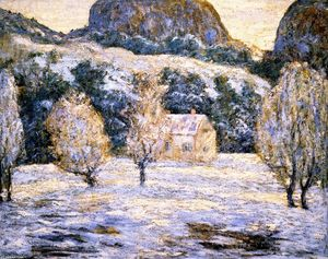 Ernest Lawson - Winter Landscape (also known as Trees in nBlossom)