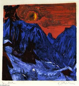Ernst Ludwig Kirchner - Winter Landscape by Moonlight