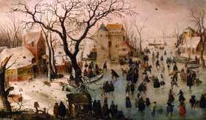 Hendrick Avercamp - Winter Landscape with a Castle