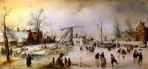 Hendrick Avercamp - A Winter Scene