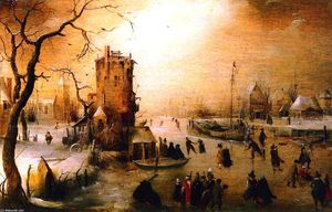 Hendrick Avercamp - Winter Scene