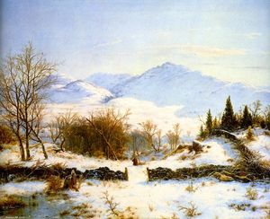 Louis Remy Mignot - Winter Scene