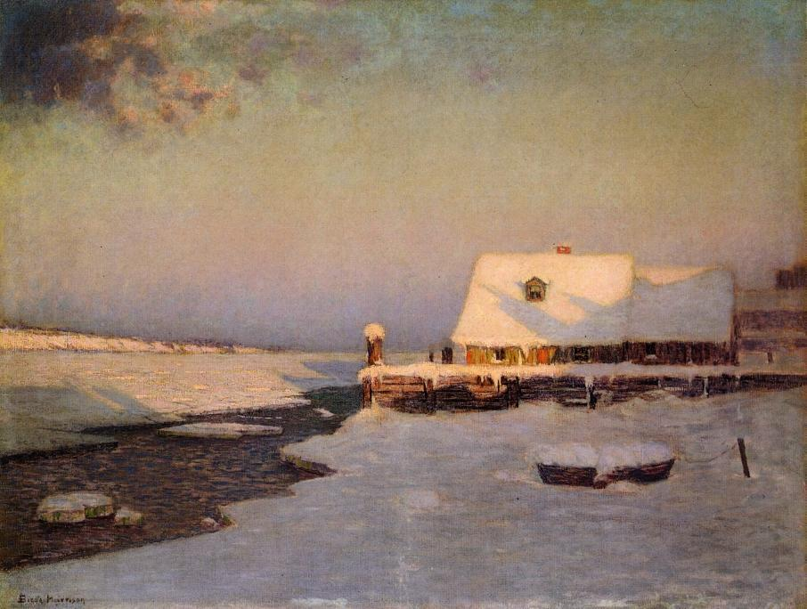 Winter Twilight by Lowell Birge Harrison (1854-1929, United States) | Famous Paintings Reproductions | WahooArt.com