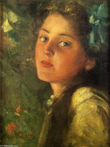 James Carroll Beckwith - A Wistful Look