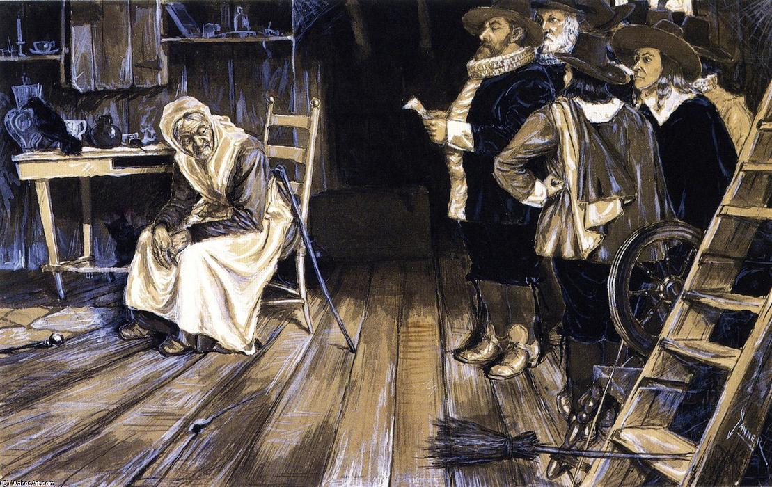 The Witch Hunt, 1882 by Henry Ossawa Tanner (1859-1937, United States) | Painting Copy | WahooArt.com