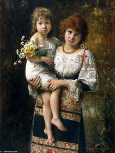 Alexei Alexeievich Harlamoff - Woman and child