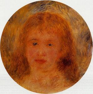 Pierre-Auguste Renoir - Woman-s Head (also known as Jeanne Samary)