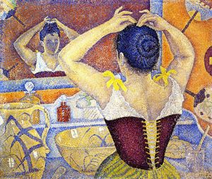 Paul Signac - Woman Arranging Her Hair, Opus 227 (also known as Arabesques for a Dressing Room)