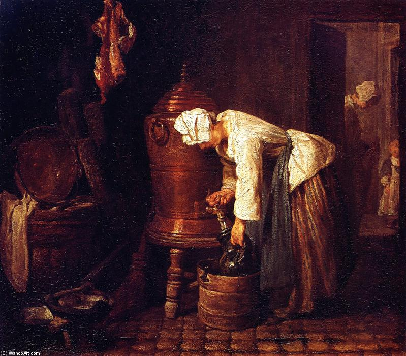 Woman at the Cistern, 1733 by Jean-Baptiste Simeon Chardin (1699-1779, France) | Museum Quality Copies Jean-Baptiste Simeon Chardin | WahooArt.com