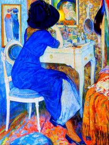 Leo Gestel - Woman at Makeup Table (also known as Lisette at Toilette)