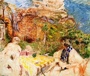 Jean Edouard Vuillard - Women and Child at Clos Cézanne