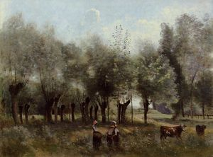 Jean Baptiste Camille Corot - Women in a Field of Willows