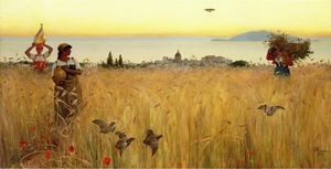 Charles Caryl Coleman - Women in the Wheat Fields, Anacapri