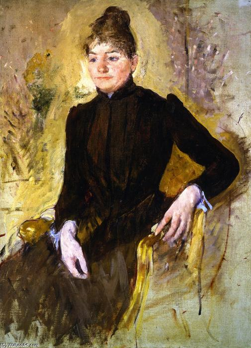 Woman in Black (also known as Portrait of a Woman), 1881 by Mary Stevenson Cassatt (1843-1926, United States) | Museum Art Reproductions Mary Stevenson Cassatt | WahooArt.com