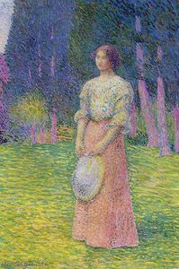 Buy Museum Art Reproductions | Woman in a Garden, 1894 by Hippolyte Petitjean (1854-1929, France) | WahooArt.com